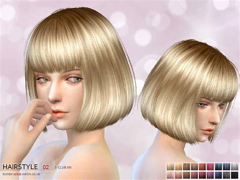 s club mk ts4 bow tie s club mk ts4 hair 2 the sims 4 catalog