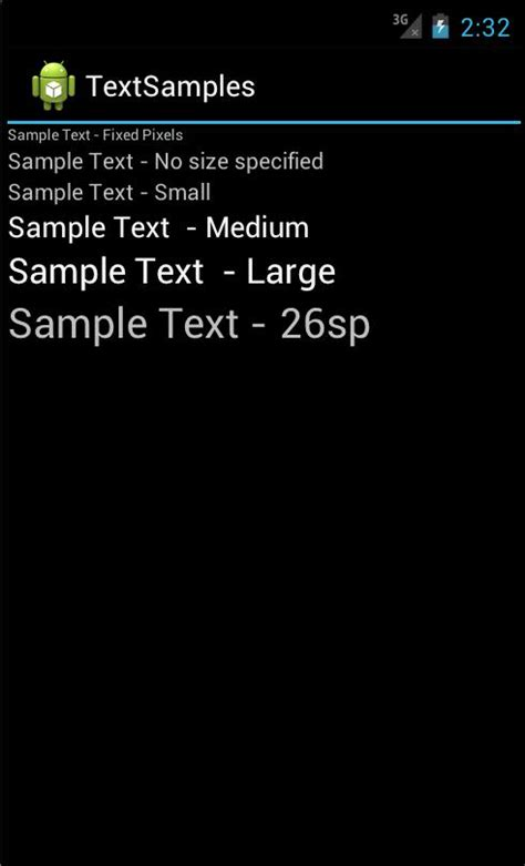 how to create a text on android how to make the android text size larger