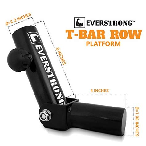 t bar row platform with securing knob widest 360 degree