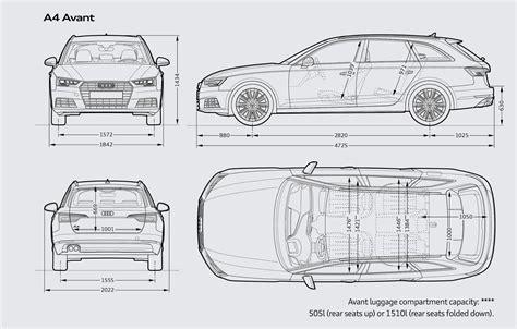 Audi A4 Avant Abmessungen by Audi A4 Wagon Dimensions The Wagon