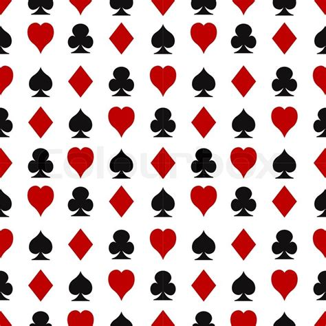 card patterns casino seamless pattern with cards suits stock