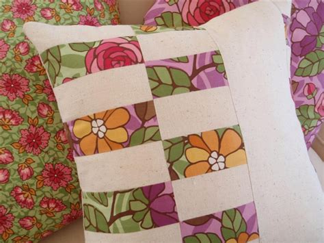 Sew Patchwork - sew hip patchwork cushion completed sewing daisies