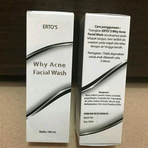 Wash Ertos Original ertos why acne wash original bpom pusat stokis