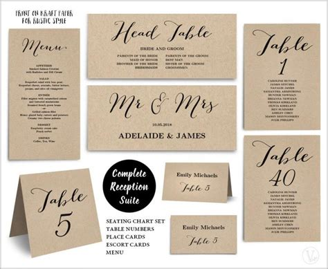 table numbers for wedding reception templates wedding reception table numbers templates template