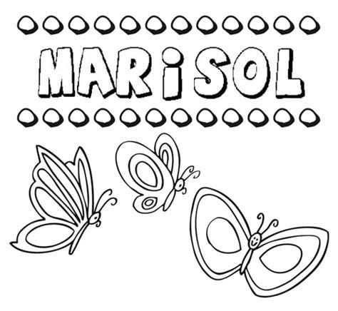 imagenes animadas nombre marisol marisol dibujos de los nombres para colorear pintar e