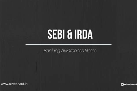 Irda Notes For Mba by Oliveboard Banking Mba Govt Exams