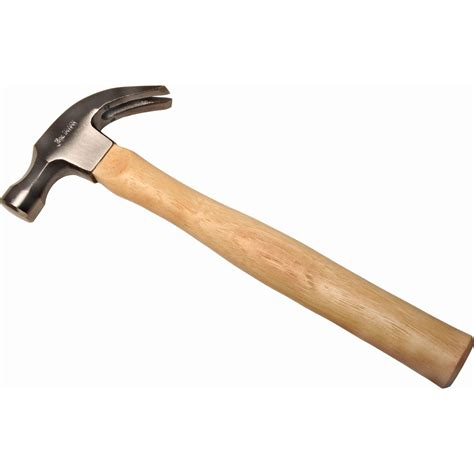 16 oz curved claw hammer with hickory handle