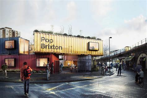 Low Cost Restaurant Interior Design by Pop Brixton Carl Turner S Shipping Container Village