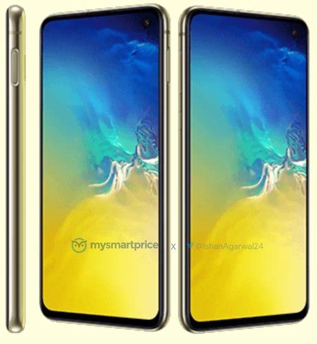 Samsung Galaxy S10 Yellow by Samsung Galaxy S10e Revealed In Vibrant Canary Yellow Color Scheme