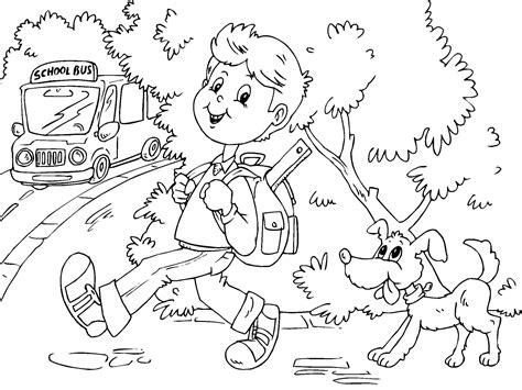 coloring page school free printable school bus coloring pages for kids
