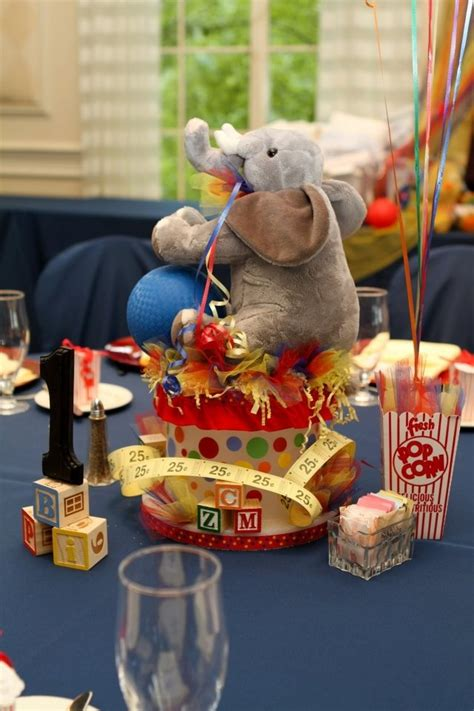 Elephant Centerpiece Circus Themed Baby Shower Event Vintage Circus Centerpieces