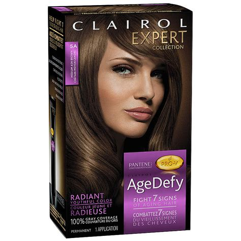 age defy hair color clairol age defy clairol age dye expert collection 5a
