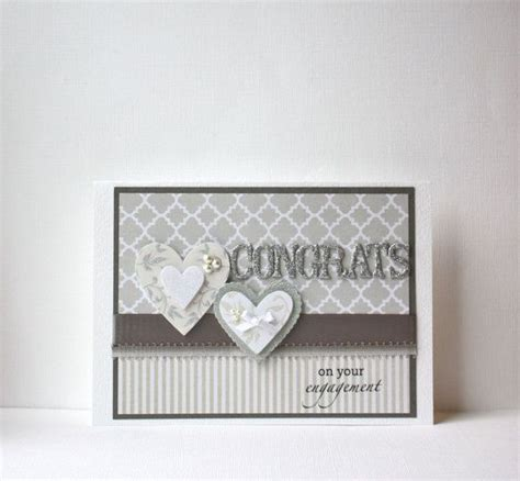 Handmade Engagement Card - 25 best ideas about handmade engagement cards on