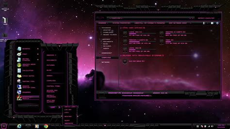 new themes in 2015 windows 7 theme pink dark glass updated may 4 2015 by