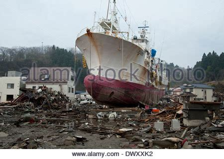 fishing boat washed ashore fishing boat washed ashore by tsunami fukushima japan
