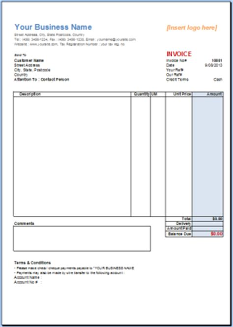 invoice template gallery