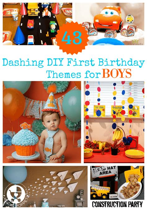 themes birthday boy 43 dashing diy boy first birthday themes