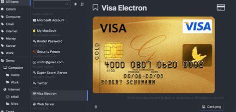 Keepass Template Credit Card