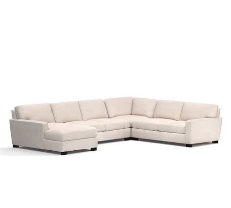 4 piece sectional with chaise turner square arm upholstered 4 piece chaise sectional
