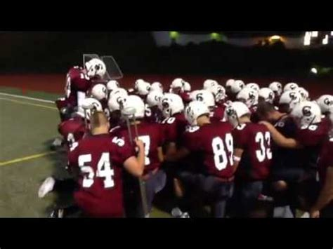 section 5 talks back football cascade football pregame pep talk youtube