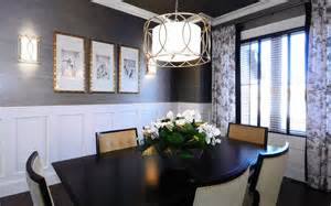 Grasscloth wallpaper dining room contemporary with crown molding