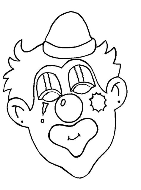 Clowns Coloring Pages Coloringpages1001 Com Clown Coloring Page