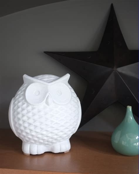 owl decor white ceramic owl school of decorating by jackie hernandez