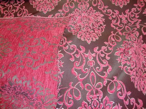 pink damask upholstery fabric pink damask chenille upholstery drapery reversible fabric