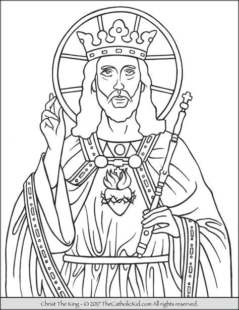 coloring pages jesus is king the king coloring page thecatholickid