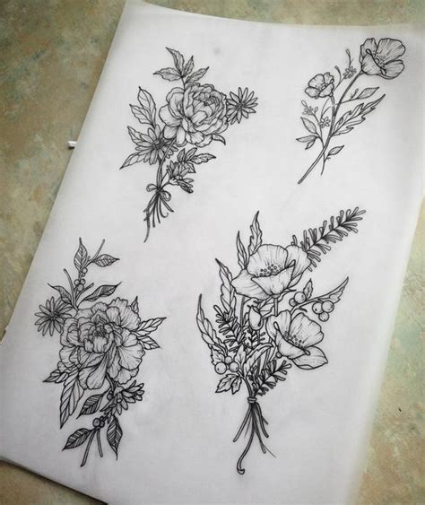 flower bouquet tattoo designs flower bouquet designs shoulder tats