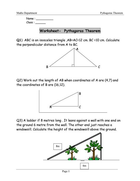 pythagorean theorem worksheet 48 pythagorean theorem worksheet with answers word pdf