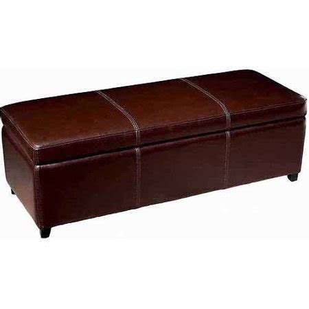 walmart ottomans and benches baxton studio brown leather storage bench