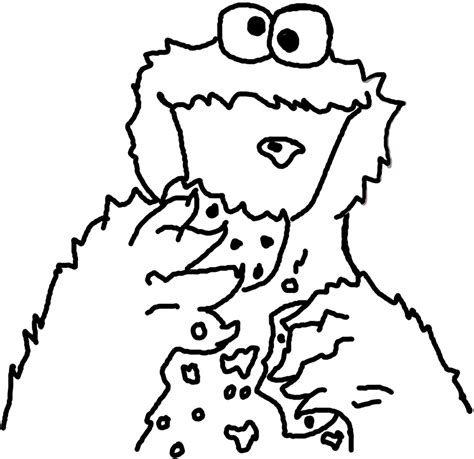 cookie monster printable coloring pages az coloring pages