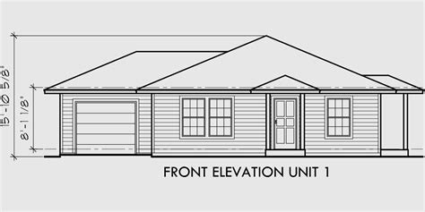 floor plan front view house front drawing elevation view for d 392 single story
