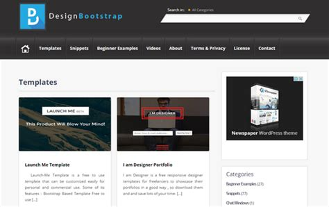 bootstrap layout snippets 15 websites for free bootstrap themes noupe