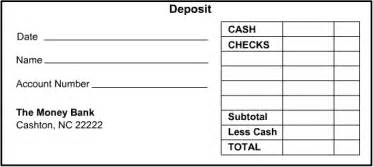 Bank Deposit Log Template by 4 Deposit Slip Templates Excel Xlts