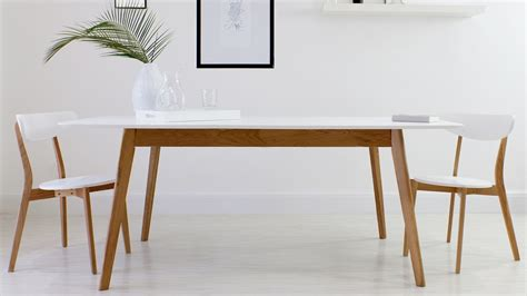 white kitchen table modern white oak table 8 seater extending dining table