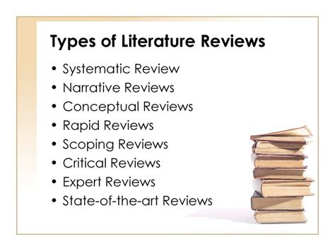 4 Types Of Literature Reviews by Writing Literature Reviews