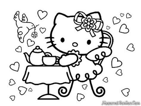 mewarnai gambar hello kitty ayo mewarnai free coloring pages of gambar keroppi