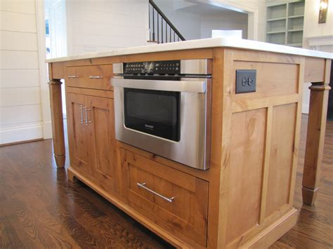 kitchen island with microwave drawer custom made kitchen island charlotte henderson