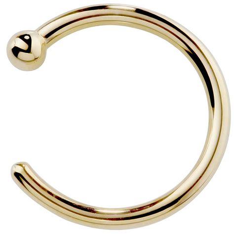 solid yellow gold nose hoop 14k gold nose hoop