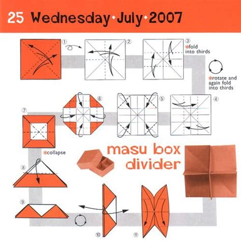 Origami Box With Divider - masu box divider crafts