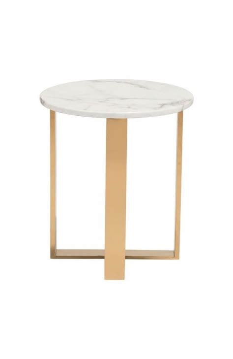 white and gold table white marble gold side table modern furniture brickell