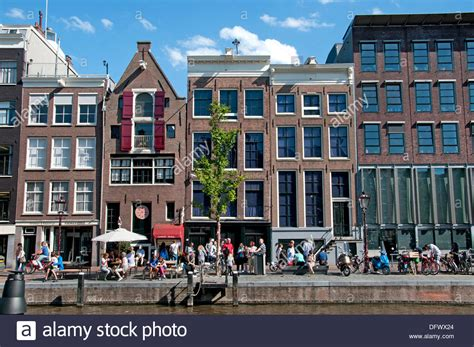buy house in amsterdam the anne frank house prinsengracht 263 265 canal in amsterdam the stock photo royalty