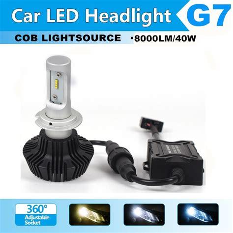 Led Headlight Foglight For Car Partno301200684 H7 6500k 1pair h7 led car headlight bulbs cree csp chips 40w 8000lm 6500k led headlight kits auto