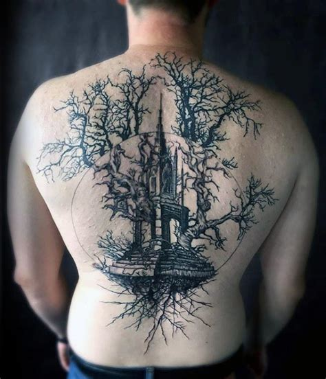 tree of life back tattoo 100 tree of designs for manly ink ideas