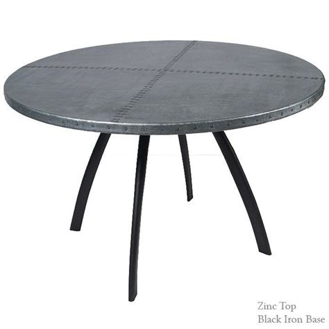 about table tops zinc artisan crafted iron furnishings