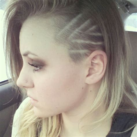 haircut design 1 shaved side hairstyle youtube 24 best images about hair on pinterest design oil slick
