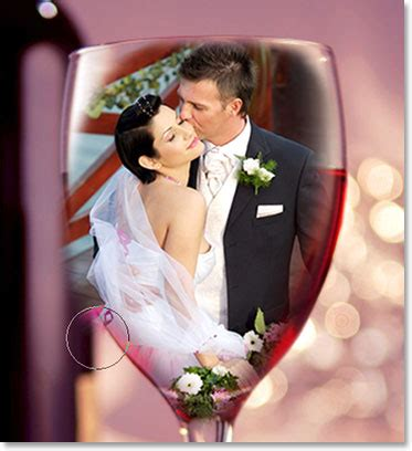 Tutorial Photoshop Cs5 Wedding | wedding couple in wine glass photoshop tutorial