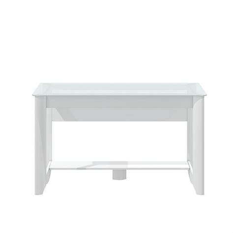 bush furniture aero writing desk bush aero writing desk in white my16128 03